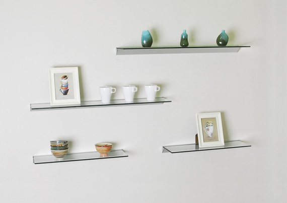 Glass wall shelves welland industries co ltd for Small glass wall shelf
